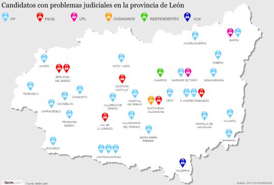 mapa provincial candidatos con problemas judiciales