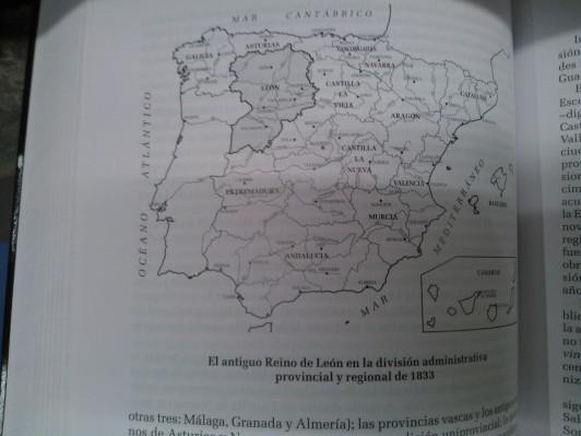 mapa regional españa 1833