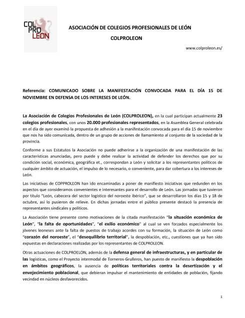 181109 coproleon Comunicado sobre la manifestación de 15 novie_Página_1