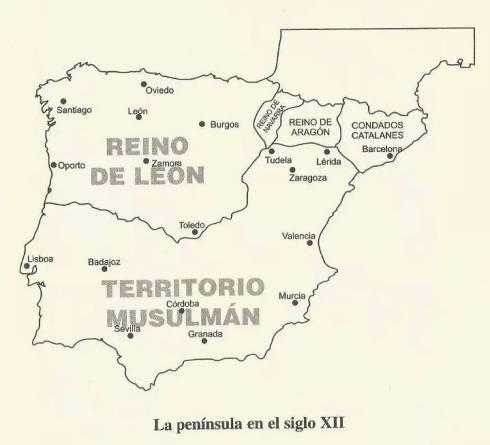 REino León en s XII y resto península