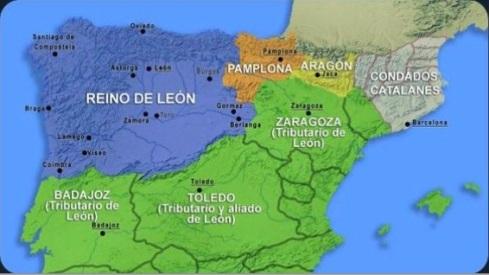 mapa Hispania antigua y reino León