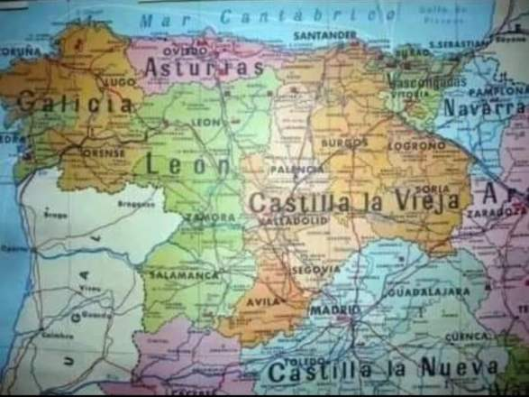 mapa regiones noroeste España año 1982