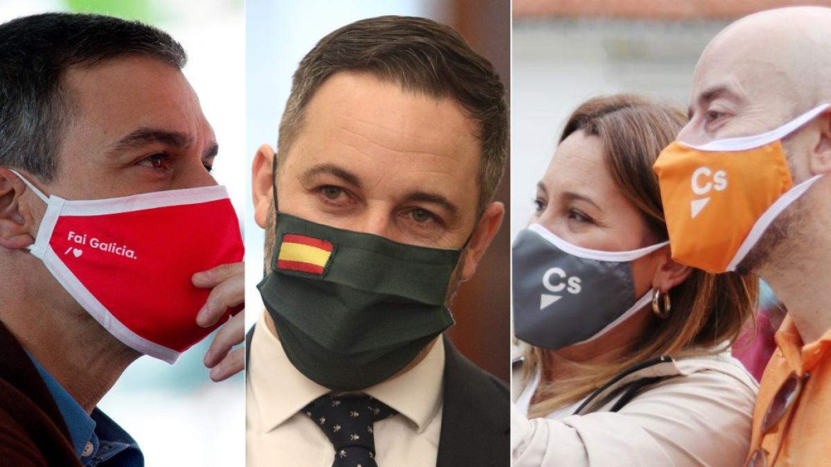200729 mascarillas-de-psoe-vox-y-ciudadanos